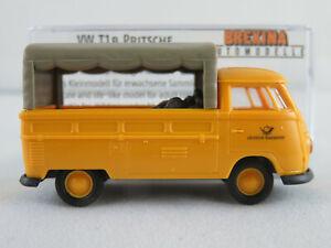 Brekina-32960-VW-T1b-Pritsche-Plane-1959-034-DEUTSCHE-BUNDESPOST-034-1-87-H0-NEU-OVP