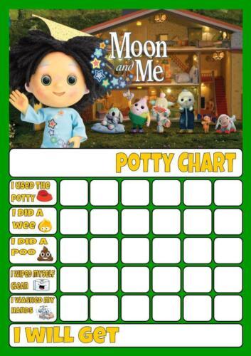 MOON AND ME POTTY//TOILET TRAINING REWARD CHART free stars /& pen
