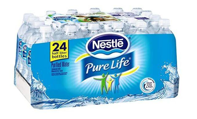 Nestle Pure Life Purified Water 24 Pack | Plastic Bottles (16.9 Fl oz ea) Nestlé