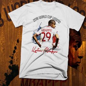 a4ae4ba0e Image is loading Soccer-t-shirt-S-3XL-Kylian-Mbappe-France-