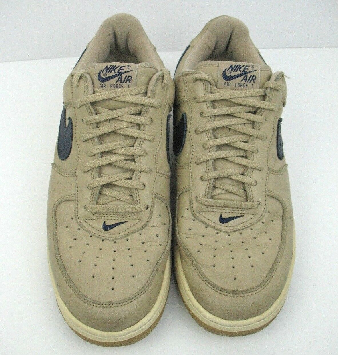 NIKE AIR FORCE 1 1 1 Mens Size 12 Mushroom Navy bluee Linen Low Top 1997 630033 241 b42d27