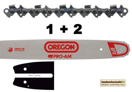 """2 Sägeketten .325/"""" 1,6 mm 62 TG 40 cm A074 Stihl Oregon 1 Führungsschiene"""