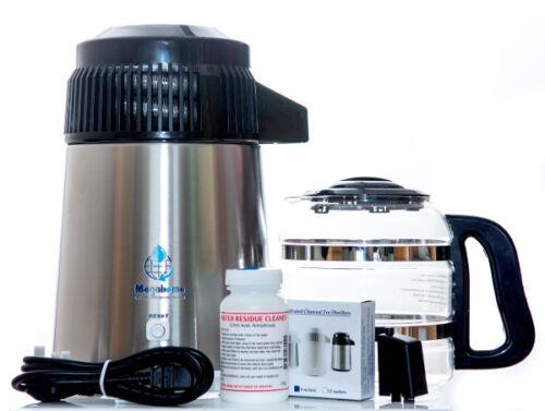 filter purifier lab Megahome Water Distiller BLACK Stainless Steel GLASS Jug