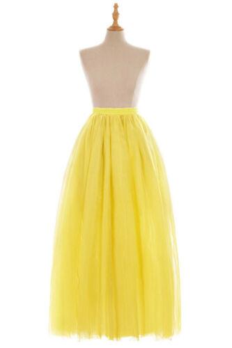 Layer Women Tulle Tutu Skirt Petticoat Underskirt Wedding Bridal Prom Ball Gown