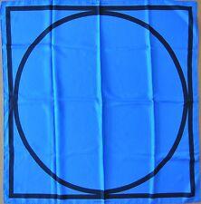 LOUIS VUITTON Sol LeWitt silk square The Earth is Round blue/black Seidentuch