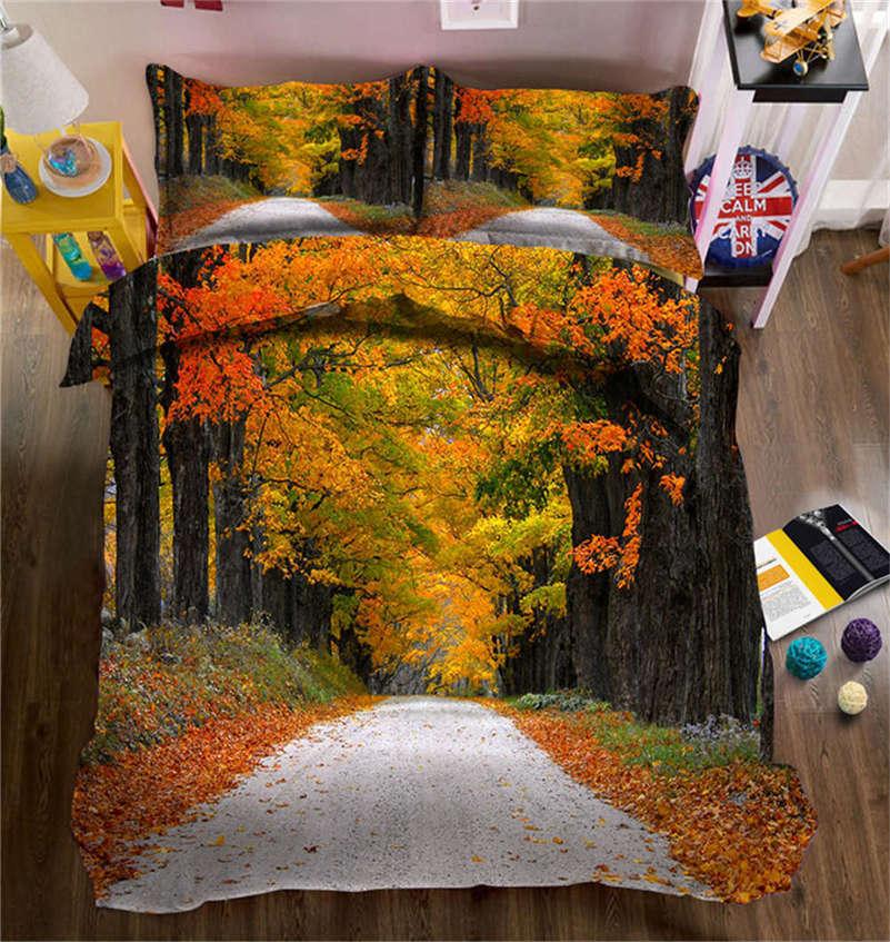 Quiet Maple Land 3D Printing Duvet Quilt Doona Covers Pillow Case Bedding Sets