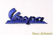 "Aufnäher ""Vespa-Schriftzug"" - Blau - V50 PK PX GL GS Sprint Rally Piaggio Patch"