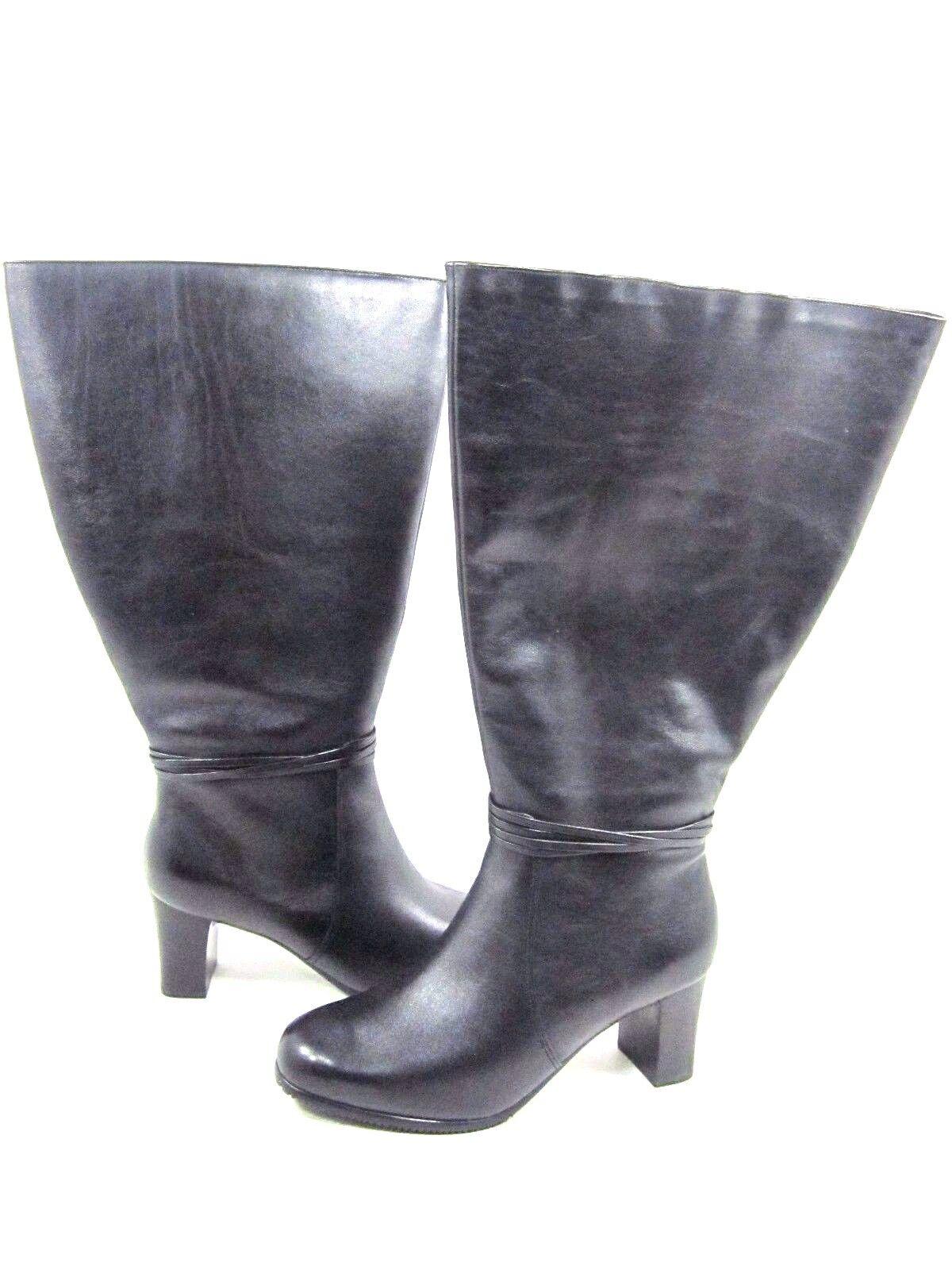prezzi bassissimi DAVID TATE donna DAYTONA LEATHER LEATHER LEATHER stivali,nero, US Dimensione 7.5 EXTRA WIDE  negozio di moda in vendita