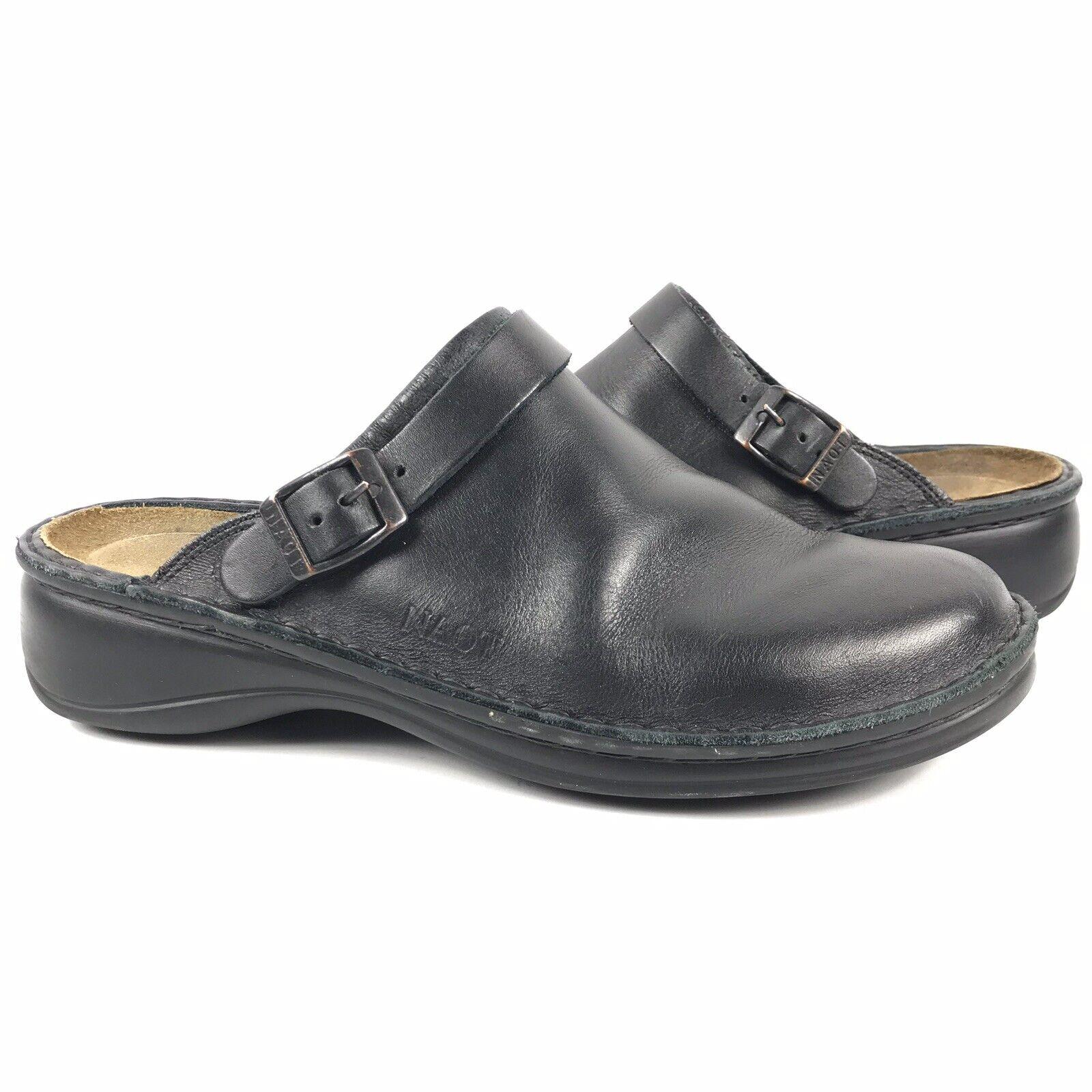economico Naot Mule Clogs donna Dimensione 40 nero Leather Leather Leather Slip On Adjustable Buckle scarpe  compra meglio