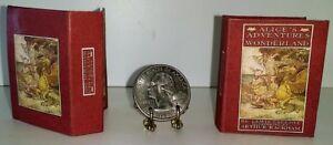 1:12 SCALE MINIATURE GOLDEN BOOK ALICE IN WONDERLAND DOLLHOUSE SCALE