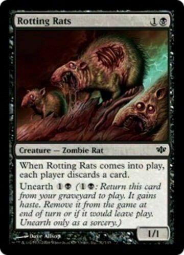 Conflux 4x x4 4 Rotting Rats mtg LP