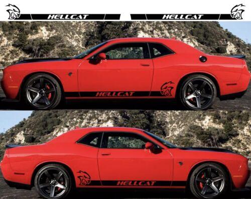 2X DODGE CHALLENGER HELLCAT Side Vinyl Decals graphics rally sticker