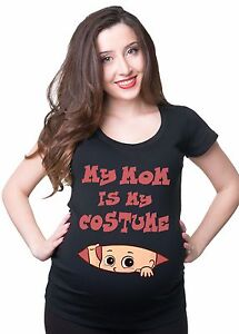 Halloween T-shirt Maternity Halloween Costume My Mom Is My Costume ...
