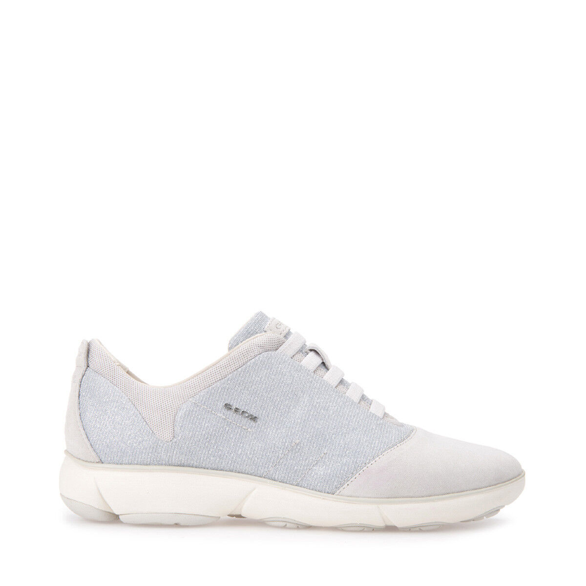 GEOX Chaussures pour femmes NEBULA D641EG baskets slip-on lire en toile et daim