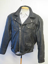 VINTAGE Harley Davidson Heavy Weight Leather Motorcycle Biker Jacket  L 42-44""