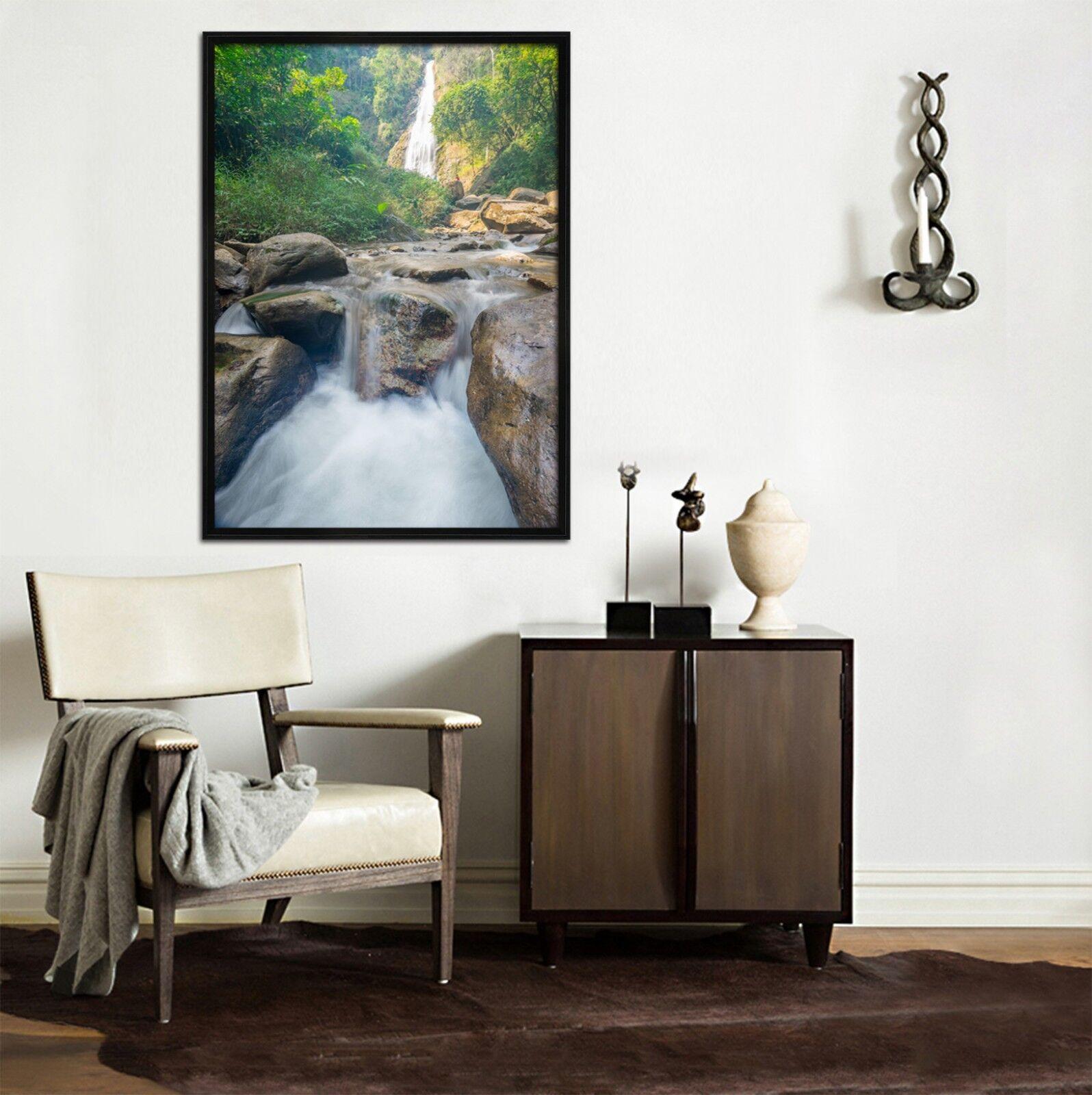 3D Piedra Rapids 69 Enmarcado Póster Decoración del Hogar Pintura de Impresión Arte AJ