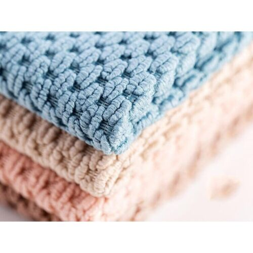 Microfiber Cleaning Cloth Super Absorbent Anti Grease Wiping Rag Kitchen Towel