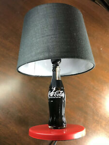 Collectible Coca Cola Coke Bottle Table Lamp Desk Shade