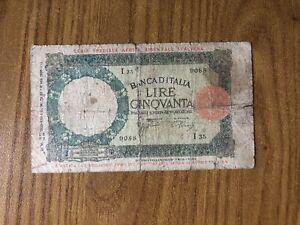 Africa-Orientale-Italiana-BANCONOTA-LIRE-50-LUPA-12-9-1938