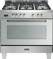 Delonghi Defp907s 90cm Dual Fuel Upright Cooker
