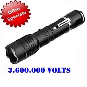 Lampe-LED-de-poche-shocker-3-6-millions-volts-promotion-prix-avec-clip-metal