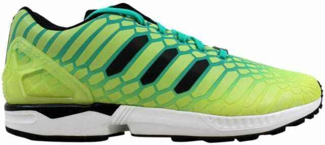 new product ae5d2 58c26 adidas ZX Flux XENO Mens Aq8212 Frozen Yellow MINT Black Running Shoes Size  7.5