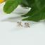 Indexbild 4 - 14 K Hallmark Gold Diamant-Ohrstecker im Rubin-Rosenschliff Weihnachtsgeschenk