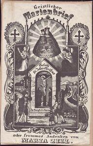 Maria-Zell-Wallfahrt-Heiligenbild-Marienbrief-Jesus-Christus-Osterreich-B-8108