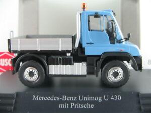 Busch-50901-Mercedes-Benz-Unimog-u-430-camastro-2013-en-azul-1-87-h0-nuevo-en-el-embalaje-original