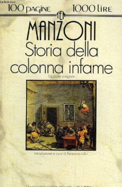 Storia della colonna infame - MANZONI
