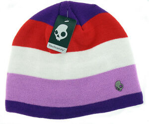 a98807489541e Image is loading Skullcandy-Zipatron-Audio-Speaker-Beanie-Hat-Purple-White-