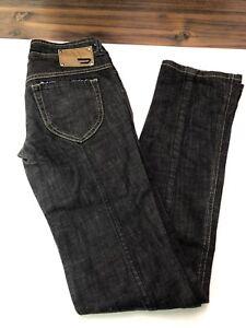 Diesel-Rokket-Womens-Stretch-Jeans-008DK-Wash-Black-Size-W26-L34-Made-In-Italy