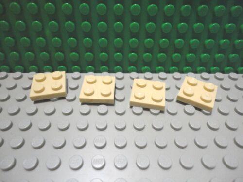 Lego 4 Tan 2x2 base plate NEW