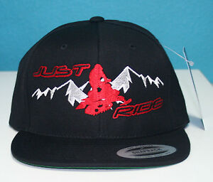 just ride snowmobile sled hat flat bill snapback cap