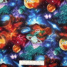 Space Fabric - Planet Stars Galaxy Nebula - Robert Kaufman YARD