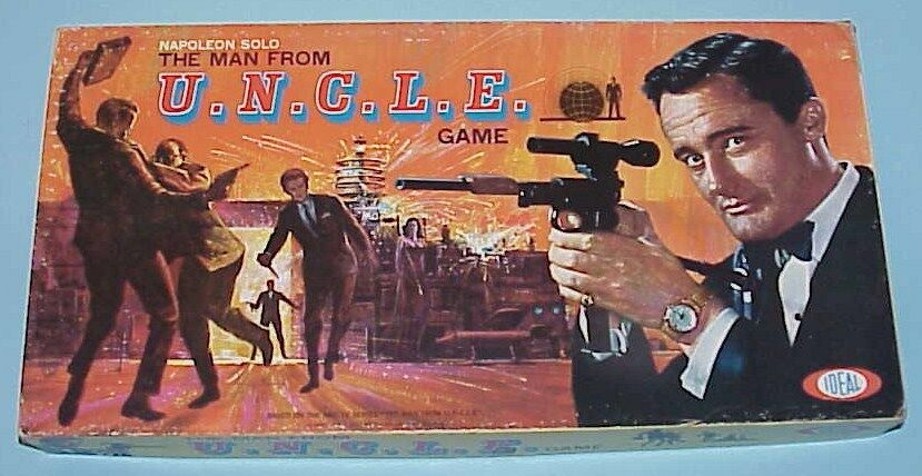 The Man From U.N.C.L.E.  Vintage 1965 Ideal Board Game In Original Box