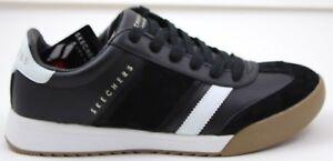 e76d2b4bc682 Details about Men's Skechers ZINGER Scobie 52322/BKW Black White Street  Brand New