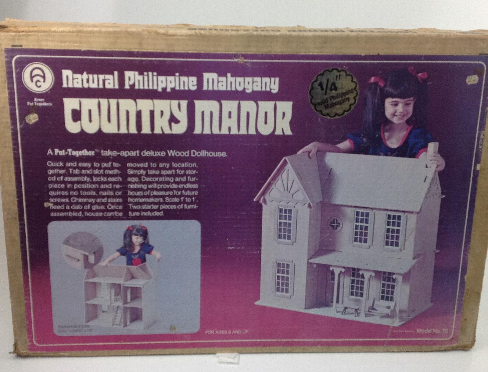 Vintage Arvey Country Manor Dollhouse Model No 70