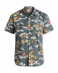 NEW-QUIKSILVER-Mens-Island-Apocalyspe-Short-Sleeve-Shirt-Tops