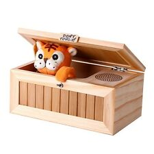 Wooden Useless Box Leave Me Alone Box Most Machine Don't Touch Tiger Toys Sound