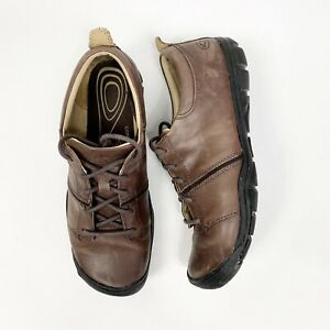 2871b019a8f KEEN Women's Delancey Lace Up Brown Leather Hiking Trail Walking ...