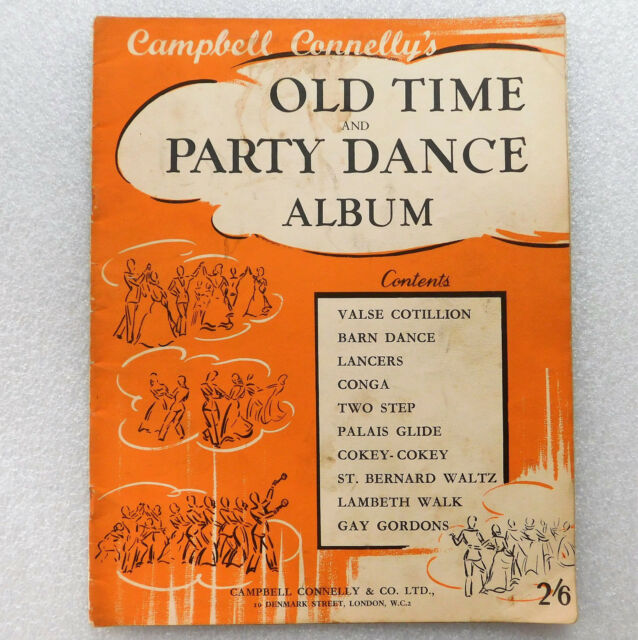 Old Time Party Dance Album vintage 1950s music book Lancers Conga Hokey-Cokey