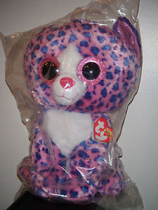 "Ty 17-18"" JUMBO Beanie Boos REAGAN the Leopard Cat (Claire's Exclusive) NEW MWMT"