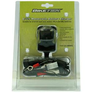 biketek 6v 12v moped scooter battery charger peugeot aprilia sym piaggio ebay. Black Bedroom Furniture Sets. Home Design Ideas