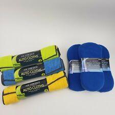 9 Towels 3 Sponges Viking Microfiber Auto Cleaning Cloths and Sponges