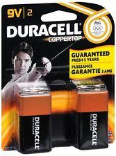Duracell Coppertop Alkaline Batteries 9 Volt 2 Each