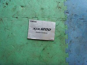 yamaha xjr 1200 owners manual ebay rh ebay co uk yamaha xjr 1200 service manual pdf yamaha xjr 1200 service manual download