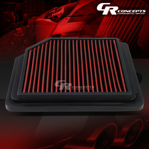 RED WASHABLE HIGH FLOW AIR FILTER PANEL FOR 06-11 HONDA CIVIC 1.8L 8TH GEN I4