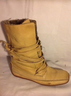 NEW! Bed Stu Womens Becca Tan Rustic Boot Leather Ankle