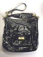 Coach New York Kristin Patent Leather Bucket Bag in Black Gold Designer Handbag